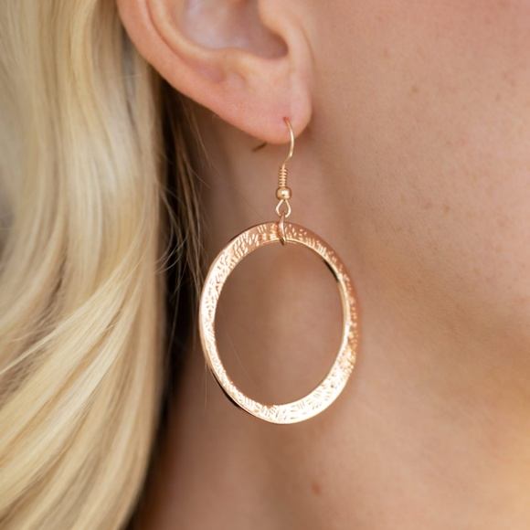 Paparazzi Jewelry Wildly Wildlust Rose Gold Circle Earrings Poshmark
